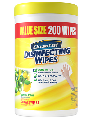 Clean cut disinfecting wipes